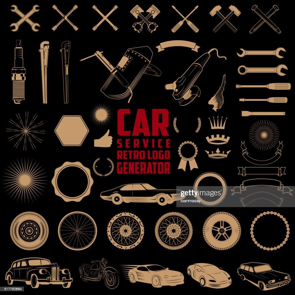 car service logo generator.