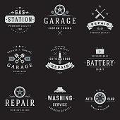 Car Service Logos Templates Set