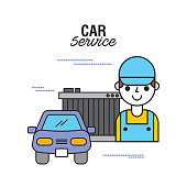 car service people mechanical support motor