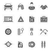 Car Service Vector Icons Set