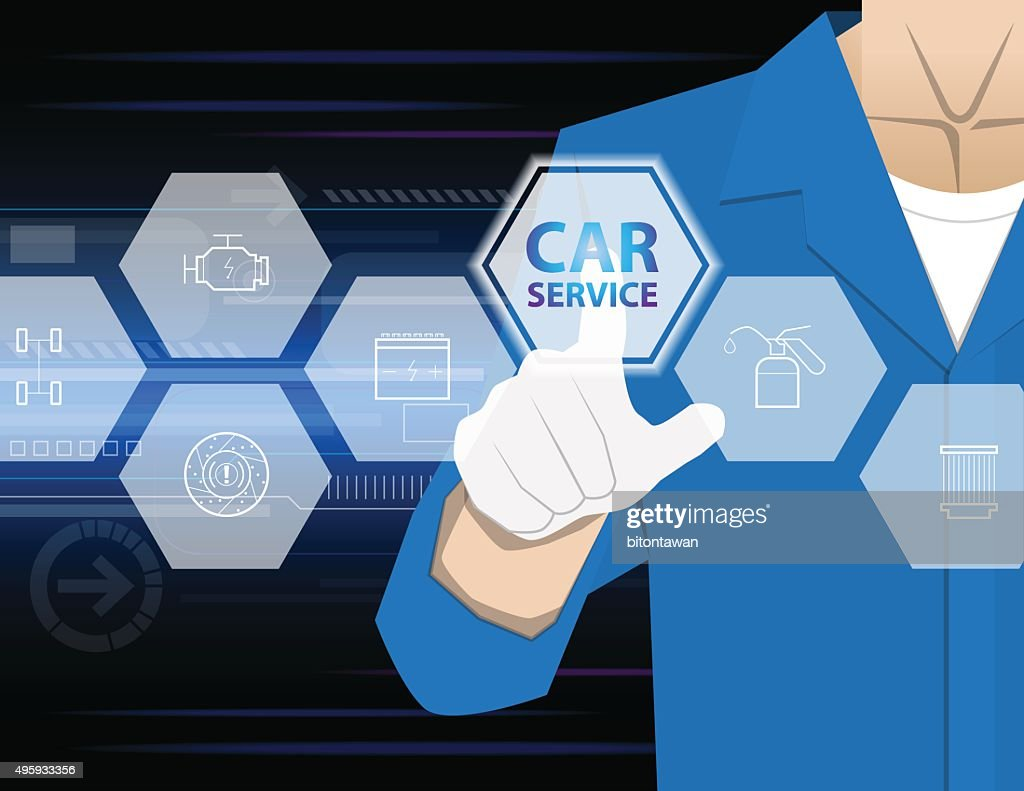 car service,Businessman working with modern virtual technology,