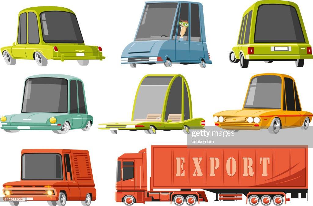 Car set : stock illustration