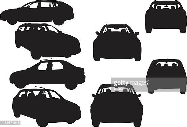 car shapes - car stock illustrations, clip art, cartoons, & icons