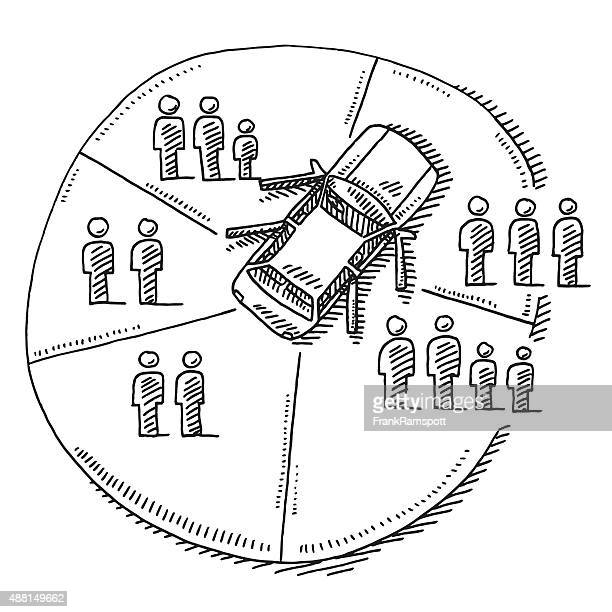 Car Sharing Concept Drawing