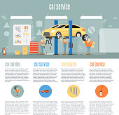 Car shop infographics
