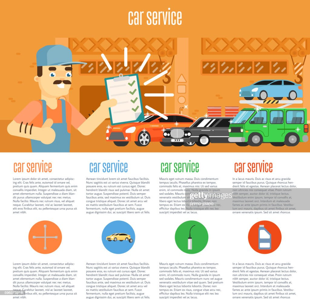 Car shop infographics