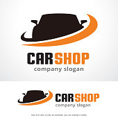 Car Shop Symbol Template Design Vector, Emblem, Design Concept, Creative Symbol, Icon