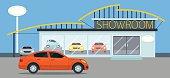 Car Showroom Illustration