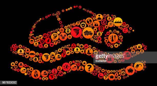 ilustraciones, imágenes clip art, dibujos animados e iconos de stock de coche que se hunde vector icono patrón del cambio del clima - car crash