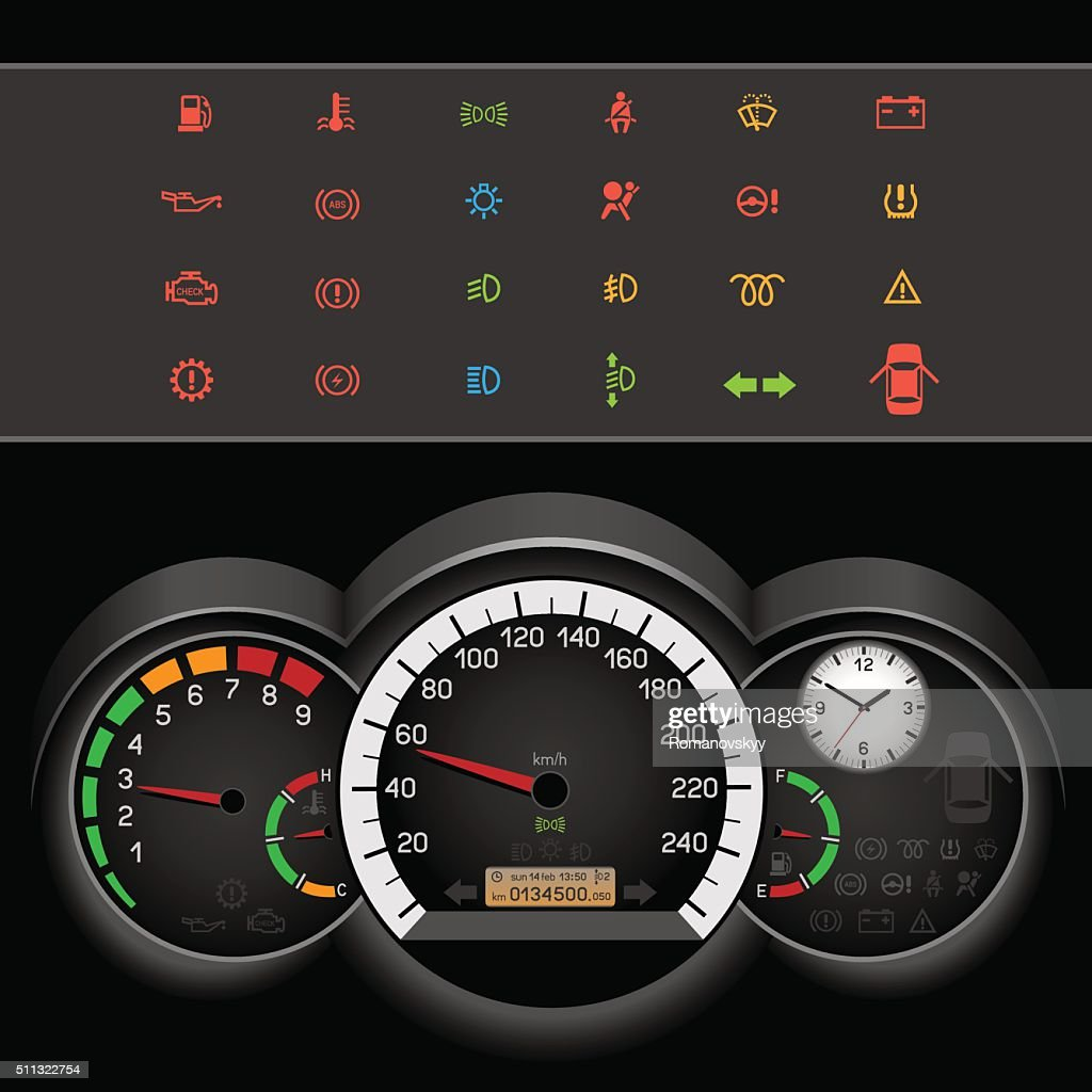 car speedometer night panel