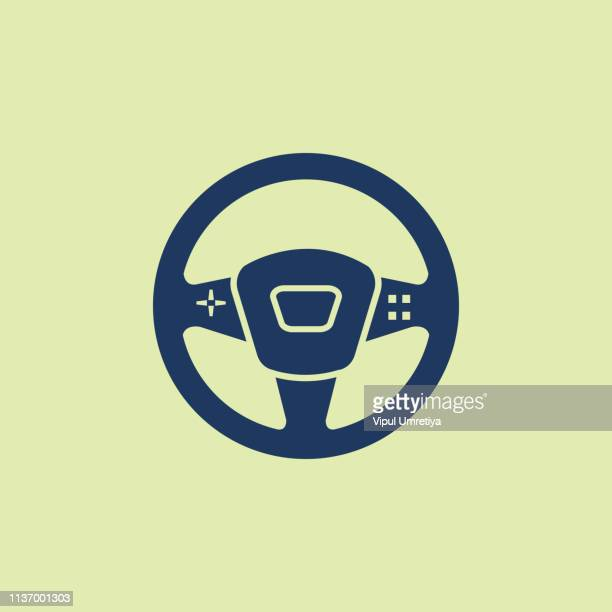 car steering wheel - steering wheel stock illustrations