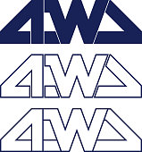 Car Sticker 4wd Set Decals for 4x4 Automobile. Vector