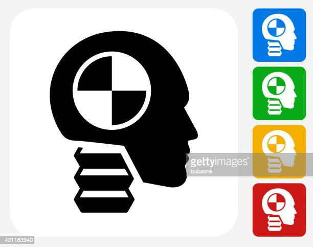 car test dummy icon flat graphic design - mannequin stock illustrations, clip art, cartoons, & icons