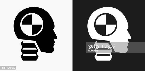 ilustraciones, imágenes clip art, dibujos animados e iconos de stock de prueba de coche simulado icono en blanco y negro vector fondos - car crash