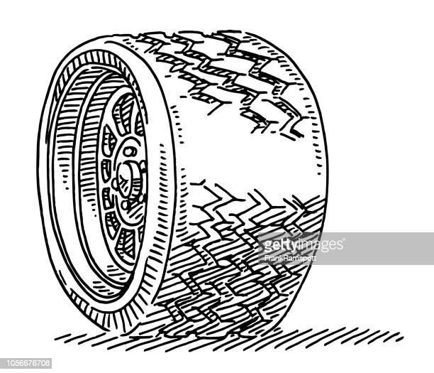 PKW-Reifen Rad-Zeichnung