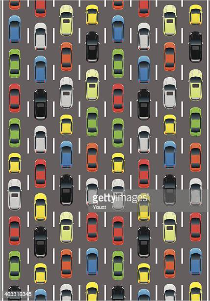 car traffic - traffic stock illustrations