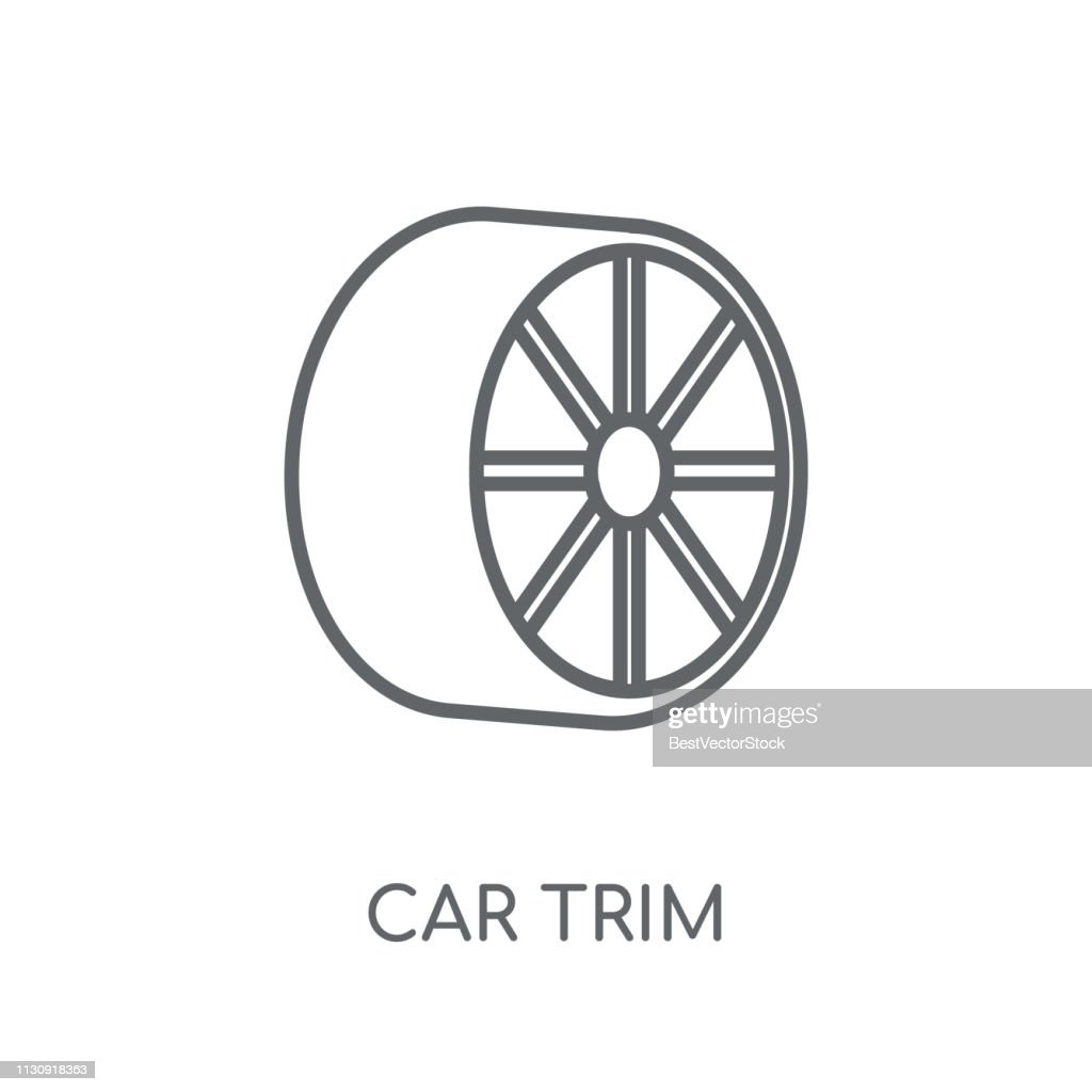 car trim linear icon. Modern outline car trim logo concept on white background from car parts collection