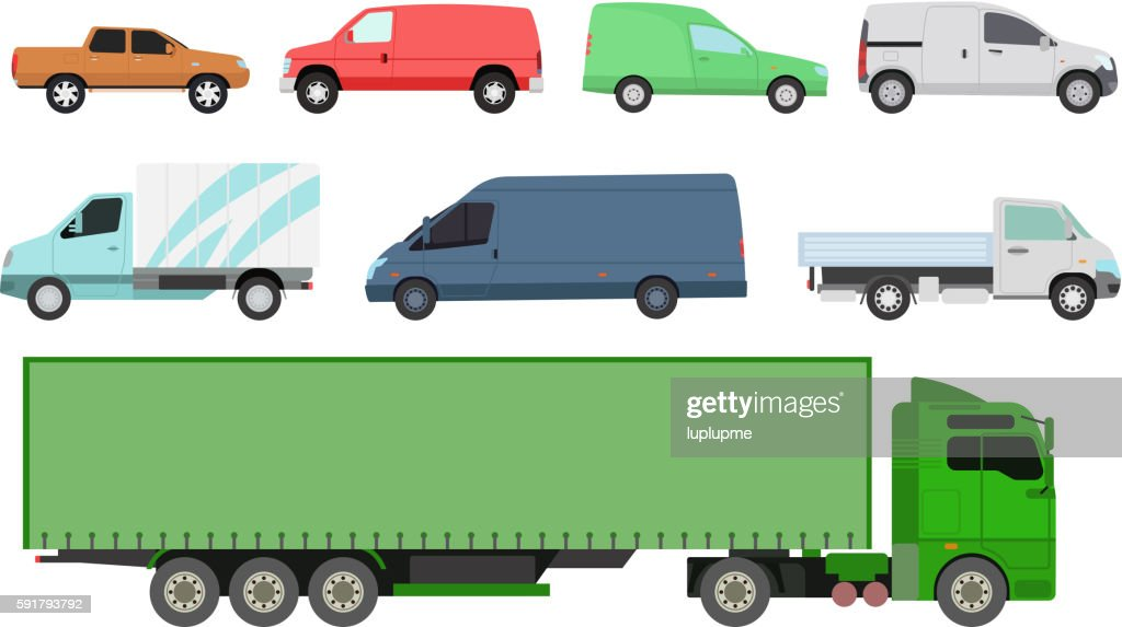 Car vechicle transport isolated vector