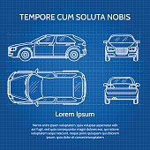 Free car blueprint clipart and vector graphics clipart background car vector blueprint malvernweather Images