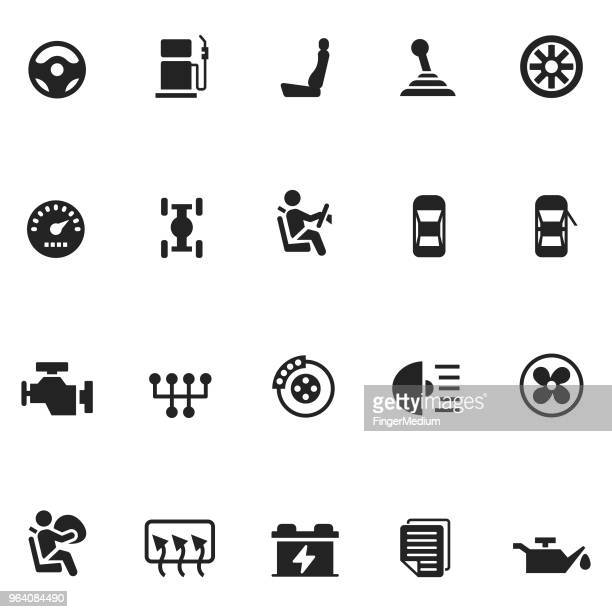 Car vector icon set
