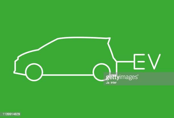 ev car - adaptor stock illustrations