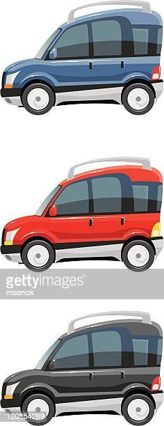 car - hatchback stock illustrations, clip art, cartoons, & icons