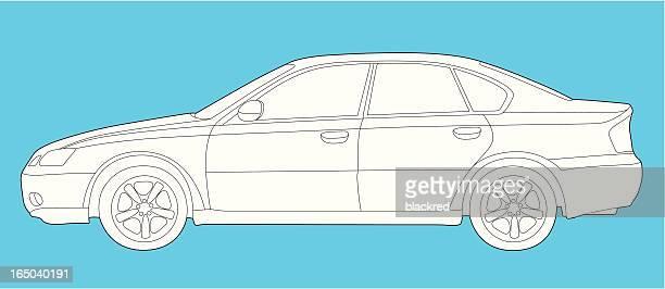 car - sedan stock illustrations, clip art, cartoons, & icons