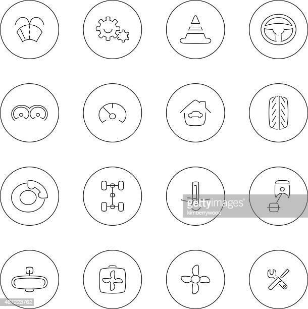 car - letrac stock illustrations
