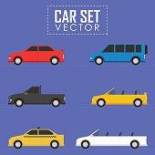 Car vector set