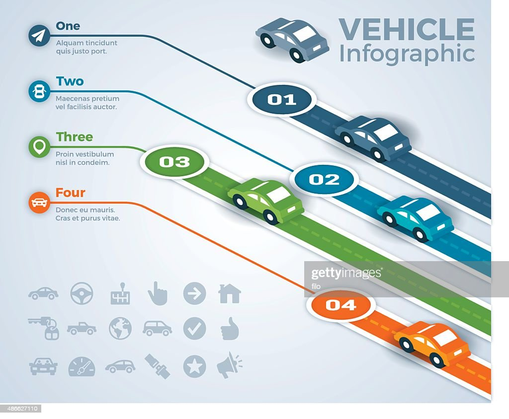 Car Vehicle and Driving Infographic