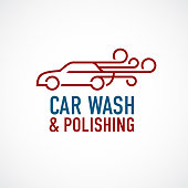 Car wash and polishing symbol.