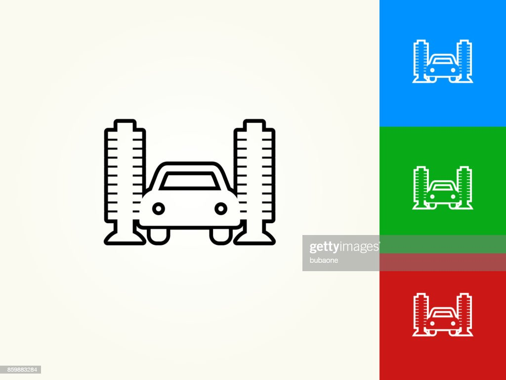 Car Wash Black Stroke Linear Icon