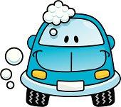 Car wash blue