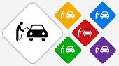 Car Wash Color Diamond Vector Icon