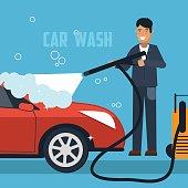 Car wash concept illustration