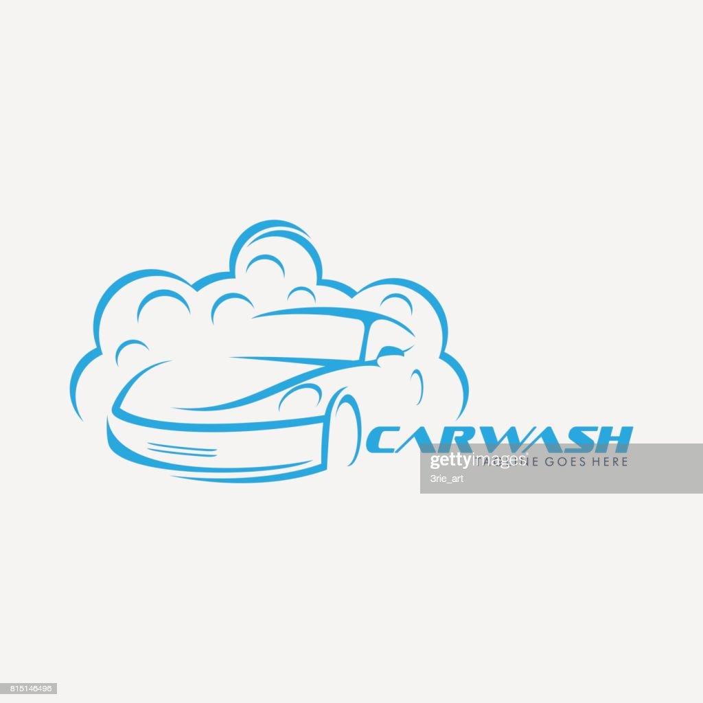 car wash emblem, use for car washing company