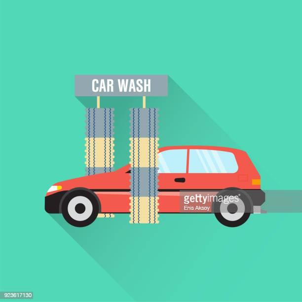 Car Wash Flat Icon