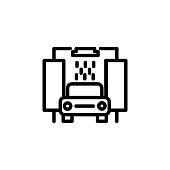car wash icon. Element of minimalistic icons for mobile concept and web apps. Thin line icon for website design and development, app development