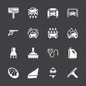 Car Wash Icons - White Series | EPS10