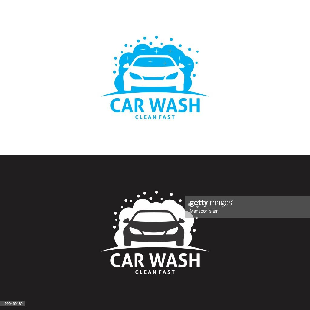 Car wash logo in vector
