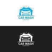 Car wash logo in vector
