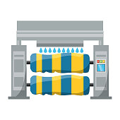 car wash machine icon