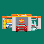 car wash services, auto cleaning with water and soap