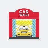 Car wash station.