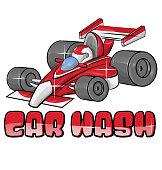 car wash symbol isoalted on white