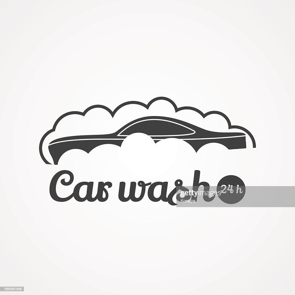 Car wash vector icon