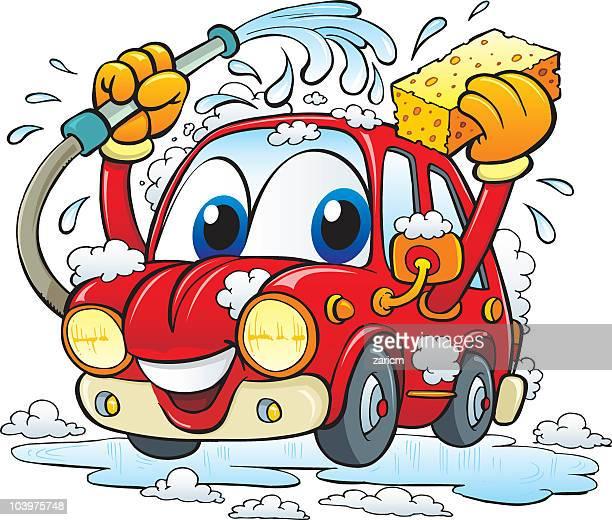 illustrations, cliparts, dessins animés et icônes de station de lavage auto - station de lavage auto