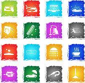 car washer icon set