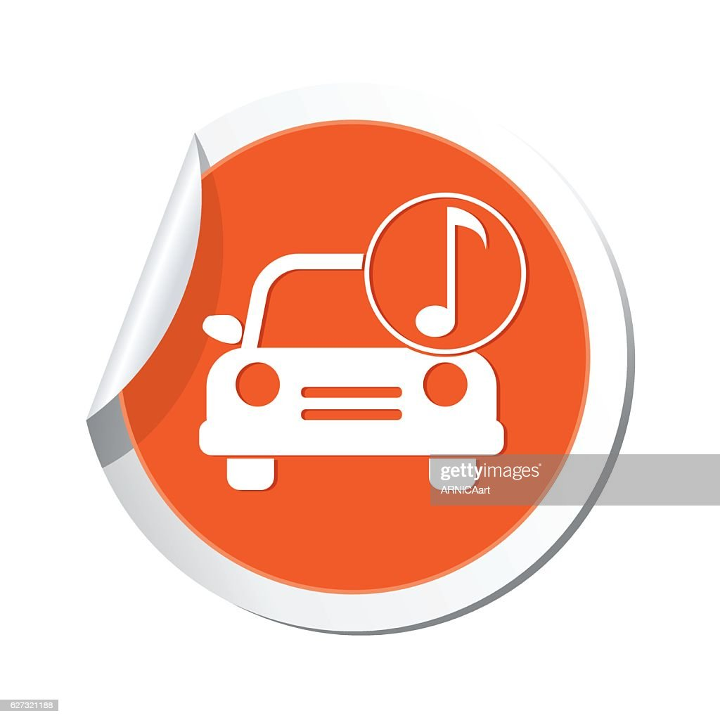 Car with music icon