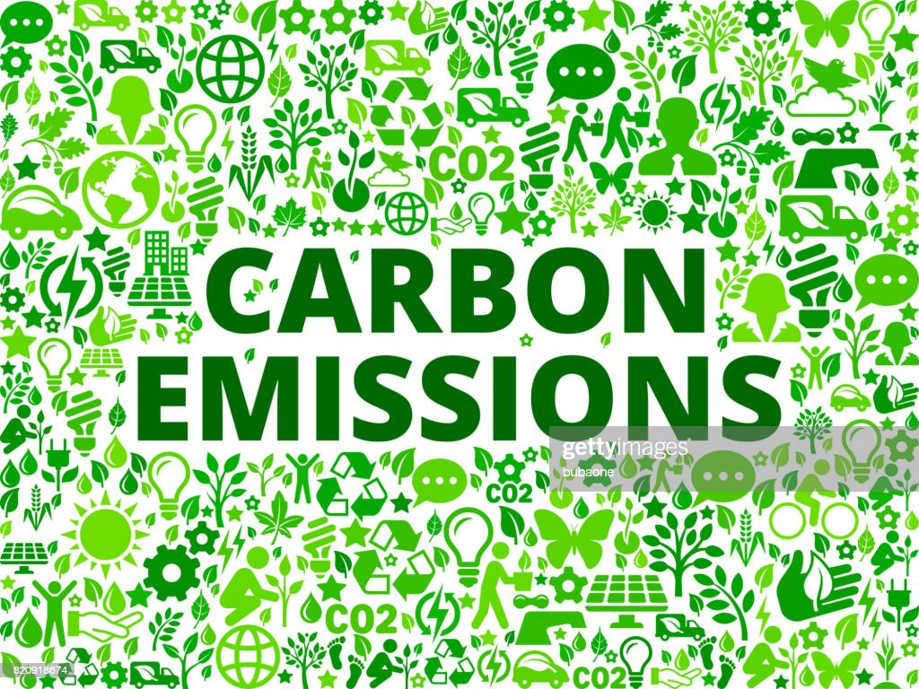 Carbon emissions Environmental Conservation Vector Icon Pattern